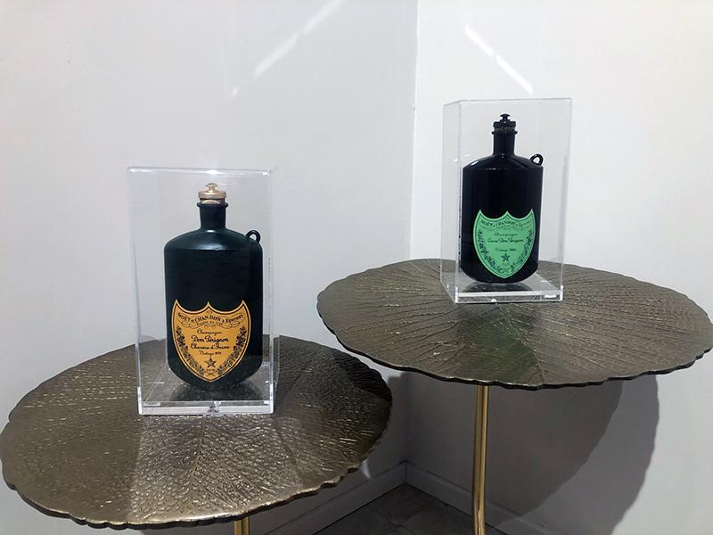 Borraccia Dom Pérignon, 2020, tecnica mista, 23 x 13 x 11 cm cad.