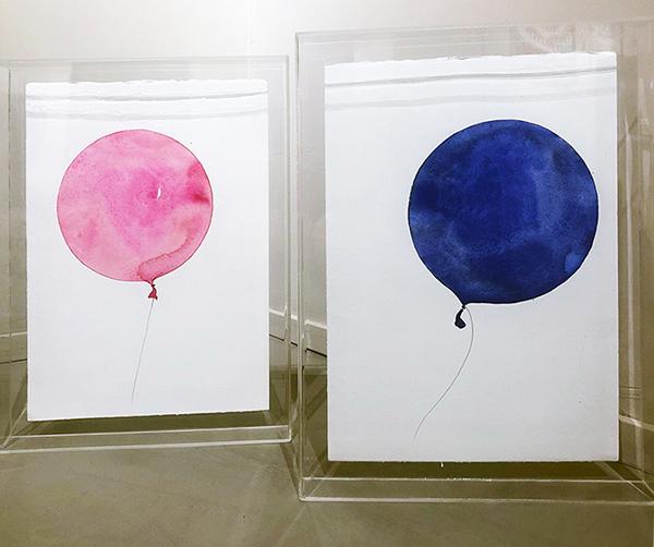 Si lo quieres déjalo ir, 2021, acquerelli su carta, 40 x 30 cm cad.
