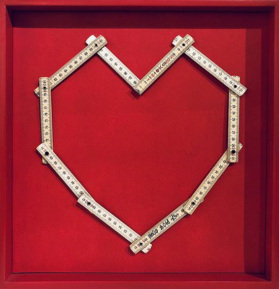 La misura dell'amore...è amare senza misura, 2020, tecnica mista, 45 x 40 cm