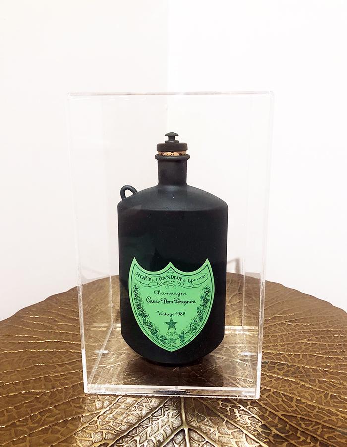 Borraccia Champagne, 2021, tecnica mista, 24 x 15 x 11 cm