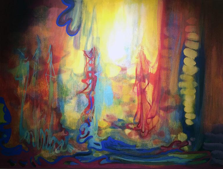 Paesaggio, 2019, tecnica mista su tela, 150 x 200 cm