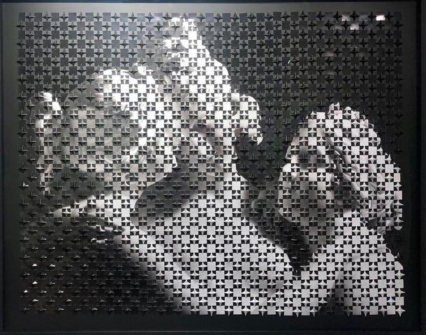 Le tre grazie di Canova, 2012, tecnica mista su carta fotografica, 120 x 153 cm