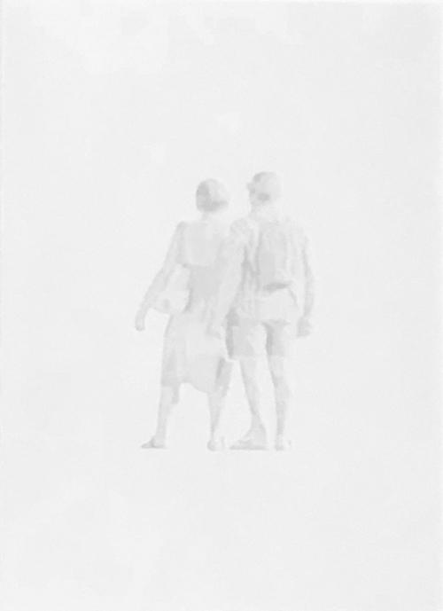 Edge, 2019, tecnica mista su carta pergamena, 22 x 18 cm ca.
