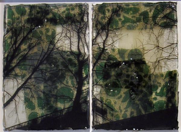 Senza titolo, 2015, tecnica mista e resina, 33 x 43 cm
