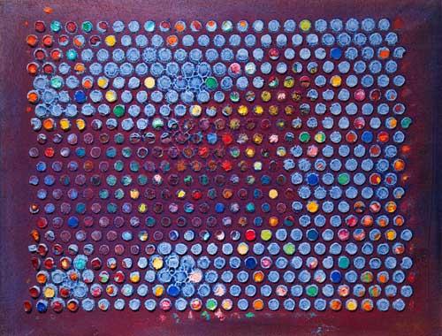 Senza titolo, 2018, olio su tavola, 30 x 40 cm