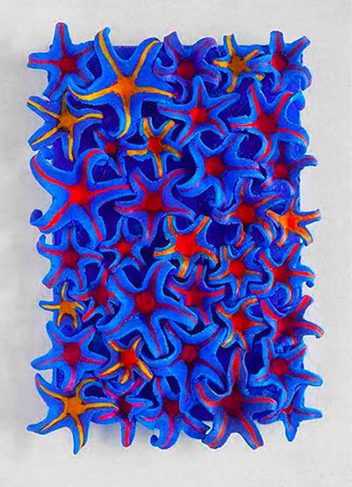 Calendario 18 di dicembre, 2019, terracotta dipinta, 23,5 x 16 x 2,5 cm