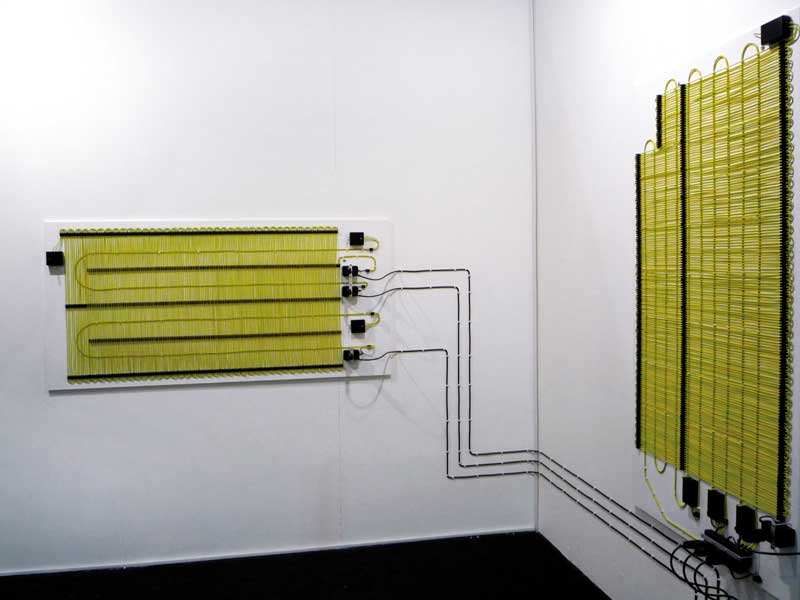 Farad, 2008, circuito elettrico, compensato, forniture elettriche, 90 x 165 cm