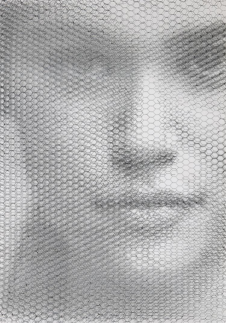 Kathe, 2019, 10 reti metalliche, 100 x 70 cm