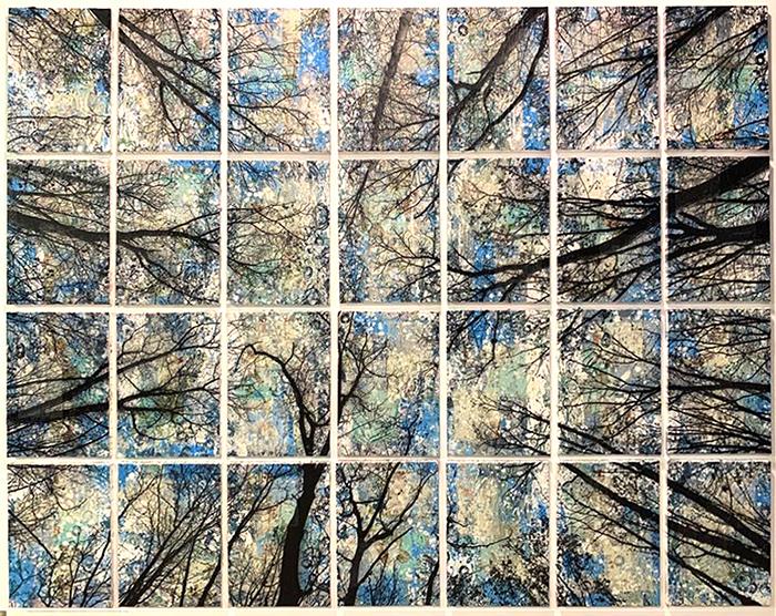 Alberi vertigine, 2020, tecnica mista su tela, 153 x 194 cm