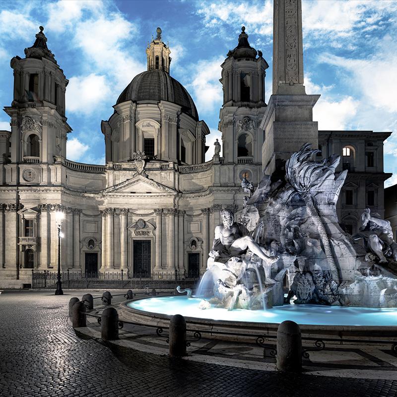 Daydreaming Roma 02, 2020, archival pigment print su d-bond e cornice, misure realizzabili, 110 x 110 / 150 x 150 cm