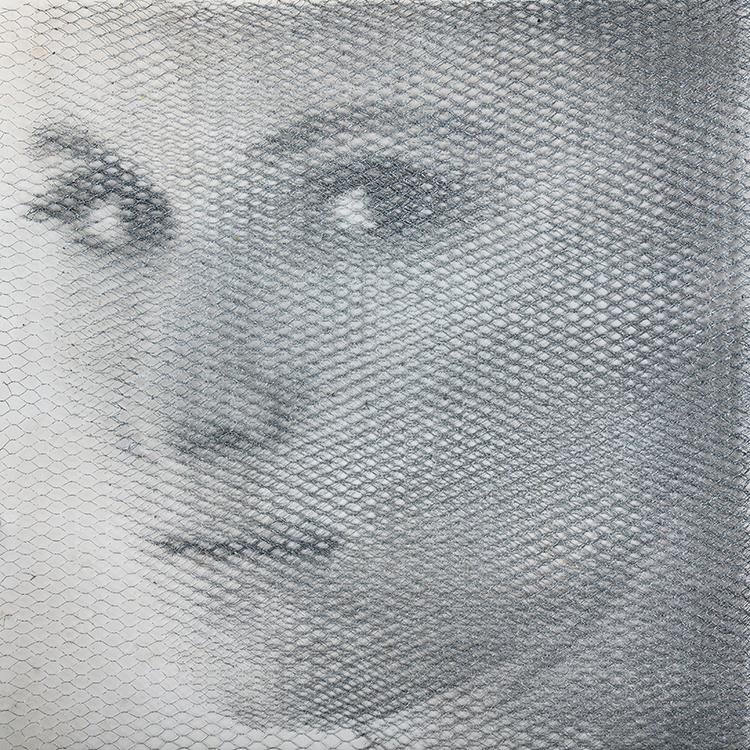 Giulia, 2018, 10 reti metalliche, 100 x 100 cm
