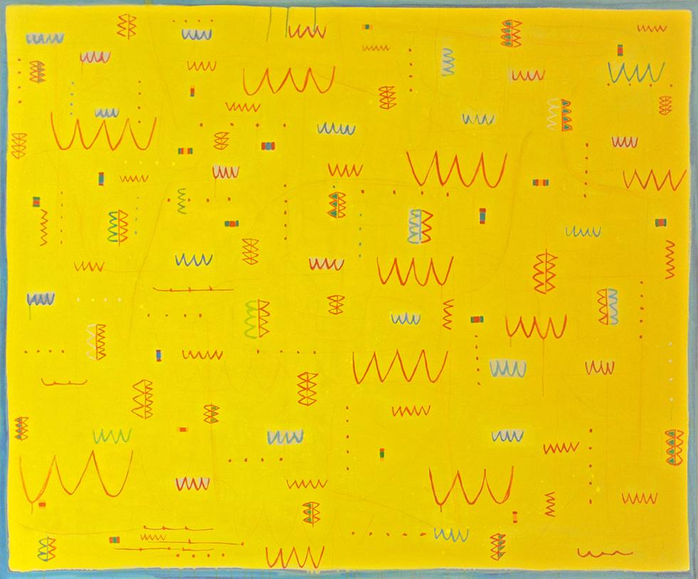 Dichiarazione d'amore, 1988-89, tecnica mista su tela, 200 x 240 cm