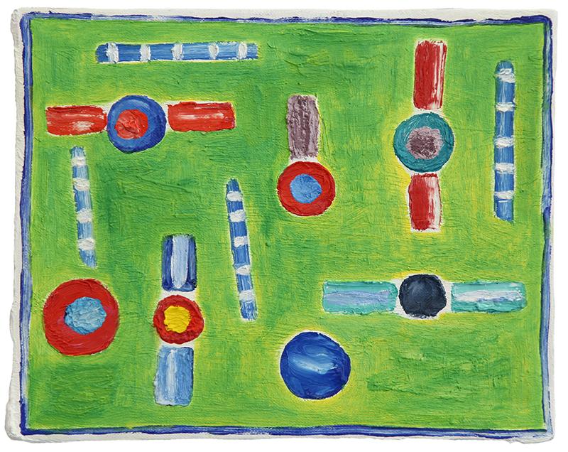 Festa cosmica, 2013, olio su tela, 24 x 30 cm