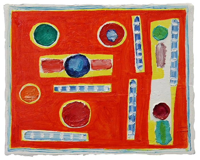 Festa cosmica poesia per venere, 2014, olio su tela, 24 x 30 cm