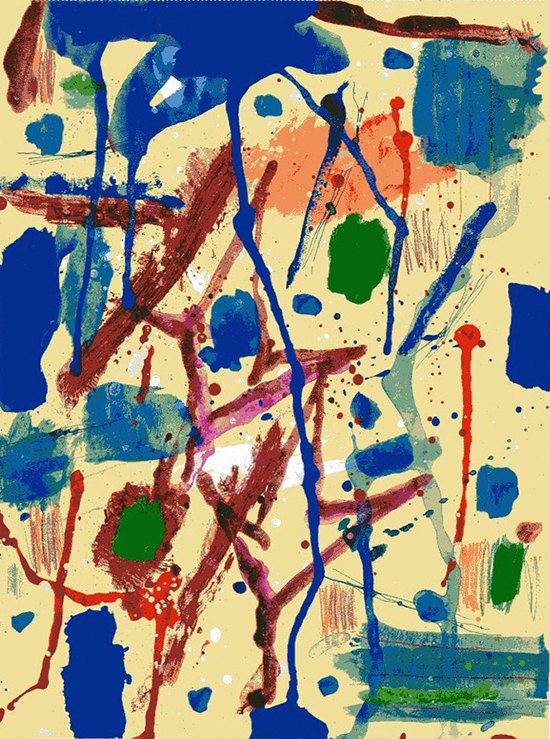 Gloria celeste, 1984, tecnica mista su carta, 31 x 23,5 cm