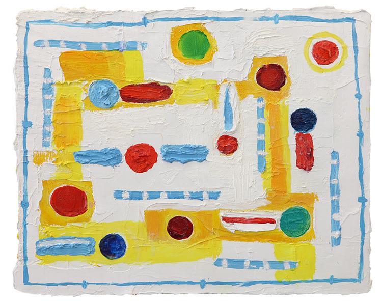 Patria mistica millenaria, 2009, olio su tela, 24 x 30 cm