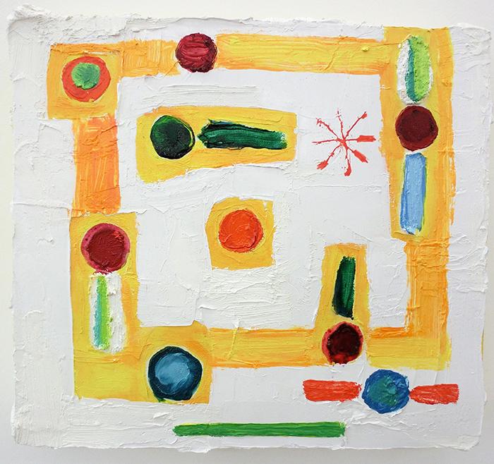 Spazio mistico, 2009, olio su tela, 27 x 30 cm