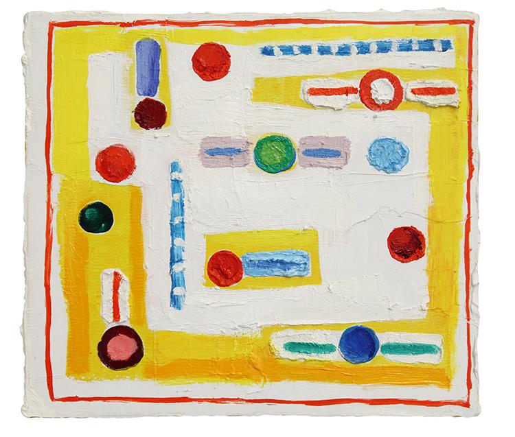 Spazio patria mistica, 2009, olio su tela, 27 x 30 cm