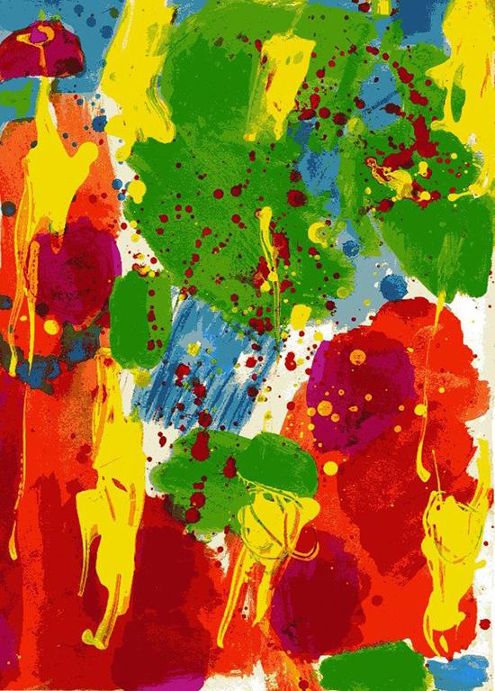 Testa fatata e fatale, 1984, tecnica mista su carta, 31 x 23,5 cm
