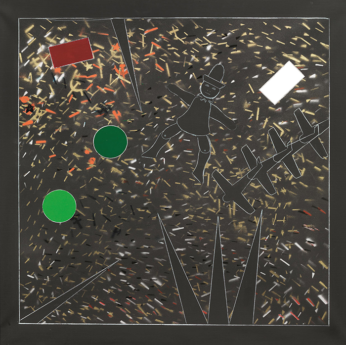 Ombre, 1987-1988, tecnica mista su tela, 80 x 80 cm