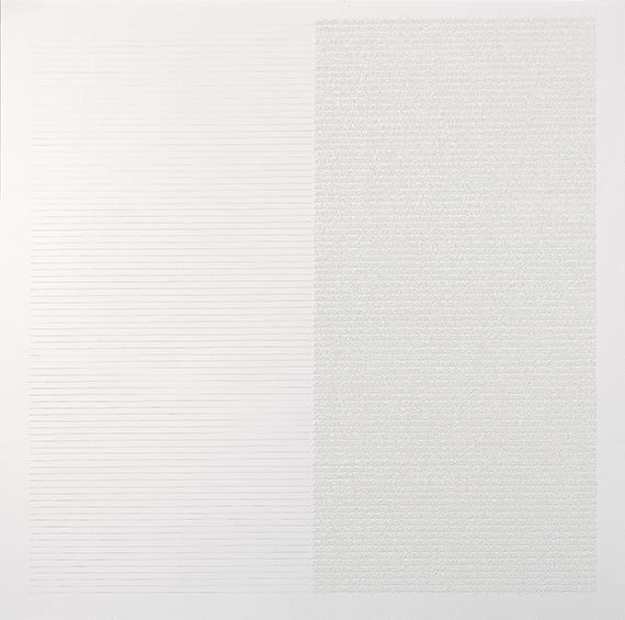 Pagine silenti, 2006, olio e acrilico su tela, 190 x 190