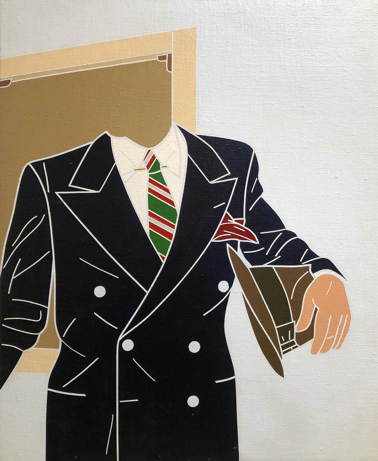 L'uomo della volgarizzazione, 1968, acrilici su tela, 60 x 50 cm
