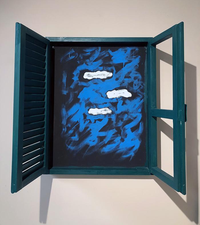Persiana, smalto e acrilico su legno, 100 x 80 cm circa