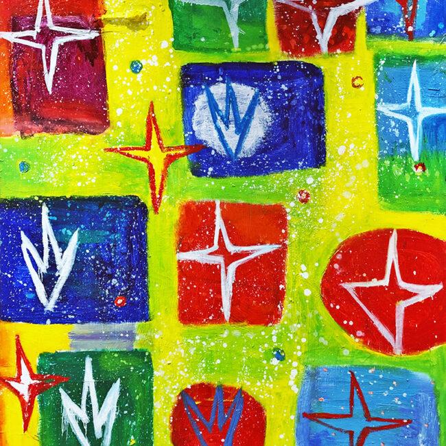Passione nel regno dei fiori, 2005 - 2006, olio su tela, 85 x 70 cm