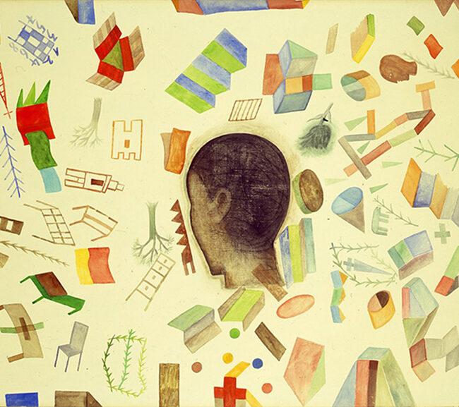Senza titolo, 2009, tecnica mista su tela, 70 x 101 cm