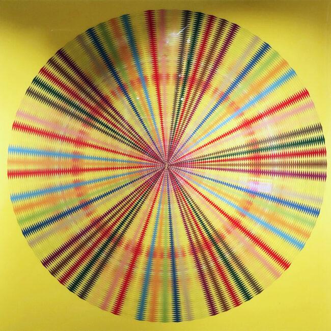 Psychedelic Fantasy, 2011, tecnica mista, 213,4 x 213,4 x 10,2 cm